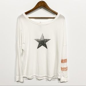 FP Movement | White Star Long Sleeve Graphic Tee S